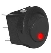 Round Rocker Switch -RKR4R